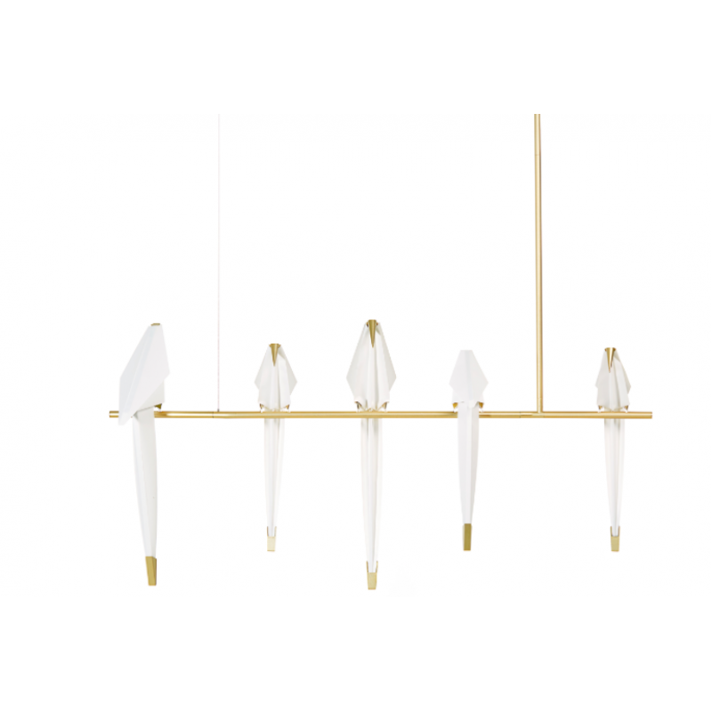 QZ8113 PERCH BIRD CHANDELIER