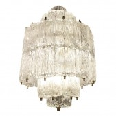 IQ8390 TEXTURED GLASS BAROVIER AND TOSO CHANDELIER