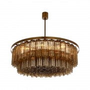 KA1117 PENTAGON DOUBLE DRUM CHANDELIER